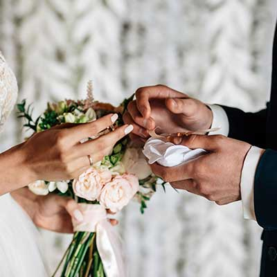 ورود و خداحافظی عروس و داماد